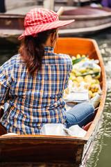 Floating market seller