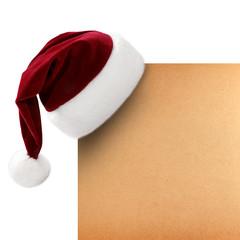 Weihnachtsmütze auf einem Pergament