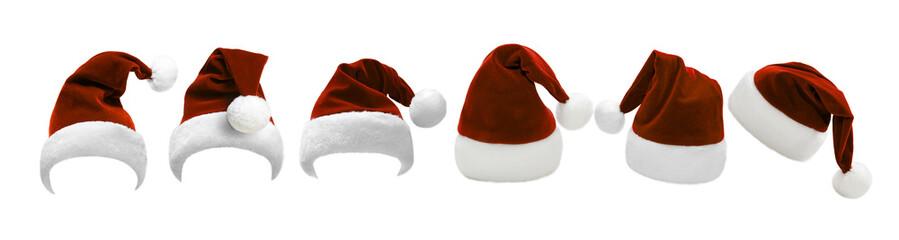 Viele Weihnachtsmützen