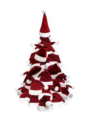 Weihnachtsbaum aus Mützen