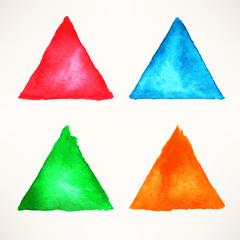 multicolor watercolor triangle backgrounds