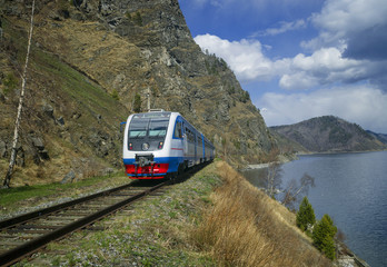 Spring on the Circum-Baikal railroad