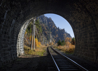 Autumn on Circum-Baikal railroad