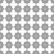 Monochrome seamless pattern in islamic motif