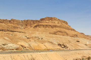 Mountain road near the Dead Sea