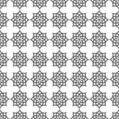 Monochrome seamless pattern in islamic motif