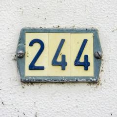Number 244
