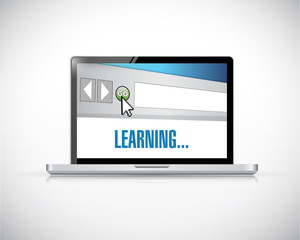 learning online concept illustration