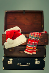Christmas Santa Claus Caps and Knitting Strips