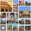Collage of landmarks of Rome