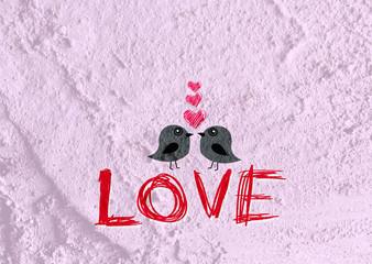 Love birds for Wedding card