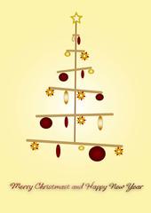 Natale in stile oro e rosso