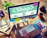 Digital Online Shop Commerce Market Office Concept - 73449079