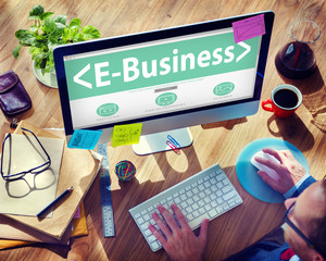 E-Business Online Networking Office Working Concept