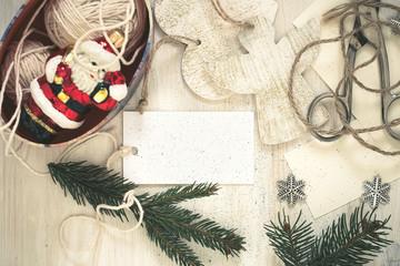Christmas preparation handmade (craft) Christmas decorations