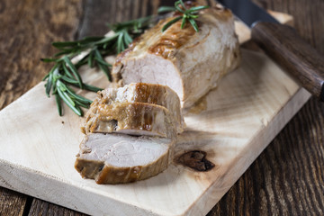 Delicious roast pork fillet