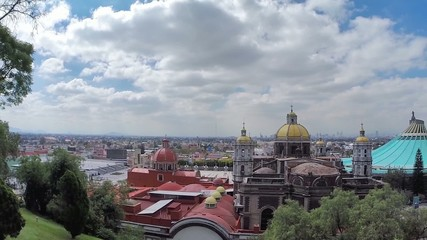 mexico city and old and new basilicas