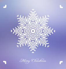 Christmas background with abstract snowflake
