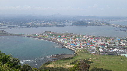 View from mountain of Jeju-Do South Korea