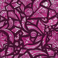 Creative pink tribal pattern