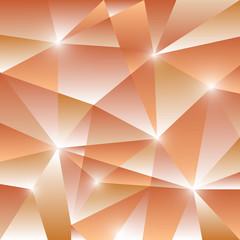 Geometric pattern with orange triangles background