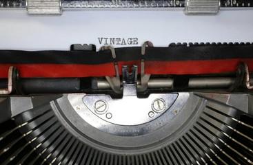 typewriter written VINTAGE in black ink