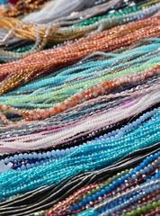necklaces and bracelets for sale at flea market