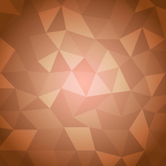 Abstract triangle with orange background