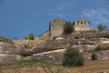 Medieval city-fortress Chufut-Kale, Crimean Mountains