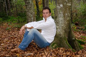 Meditazione nel bosco