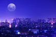 a myriad twinkling lights of a city in the night