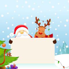 Santa And Reindeer's Christmas Message
