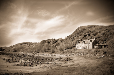 Sepia House By The Sea