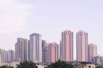 Skyscrapers in Bangkok of Thailand