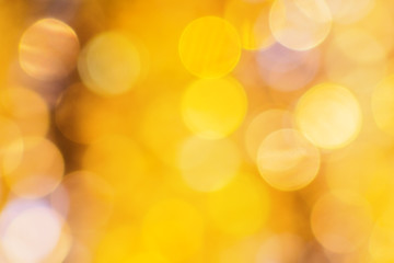 Festive orange and yellow bokeh