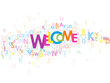 """""""WELCOME"""" Letter Collage (card smile congratulations greetings)"""