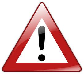 Button Patch Schild Achtung Gefahrstelle