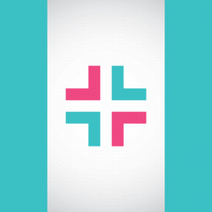 Abstract medical pharmacy sign background