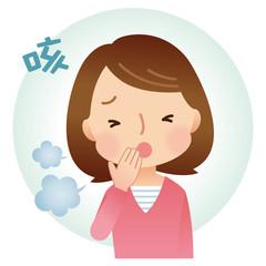風邪の女性 症