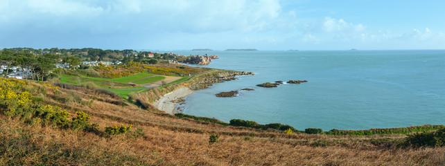 Atlantic coast spring panorama.