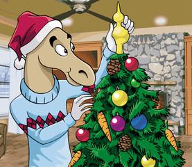 Christmas scene - Santa horse