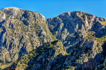 Landscape of the Mountains in Montenegro