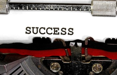 success written with black ink