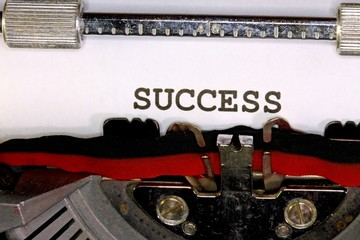 success written with black ink with the typewriter