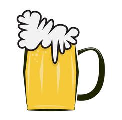 cold beer icon pictogram vector