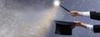 Leinwanddruck Bild - Christmas magic - for copy space