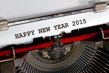 Happy new year 2015 written with black ink