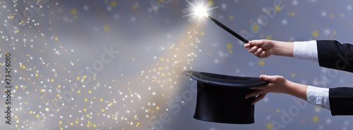 Leinwanddruck Bild Christmas magic - for copy space