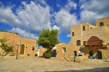 .ancient buildings of old Jaffa Israel