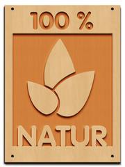100 % Natur - Blatt - Rahmen Holz